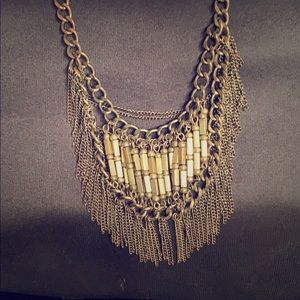 UO Chunky Brass Statement Necklace